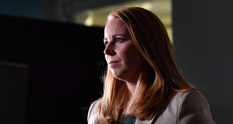 Centerpartiets partiledare Annie Lööf efter söndagens partiledardebatt i SVT.