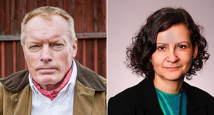 Från vänster, Magnus Norell och Anneli Bergh
