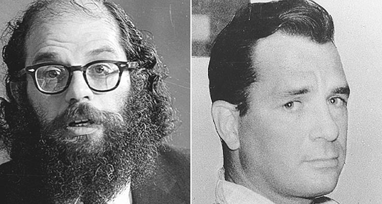Från vänster: Beatnikpeoten Allen Ginsberg och Beatnikförfattaren Jack Kerouac.